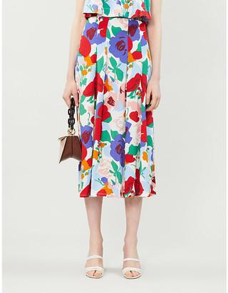 Faithfull The Brand Cuesta midi woven skirt