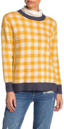 Susina Buffalo Checkered Print Pullover (Regular & Petite)