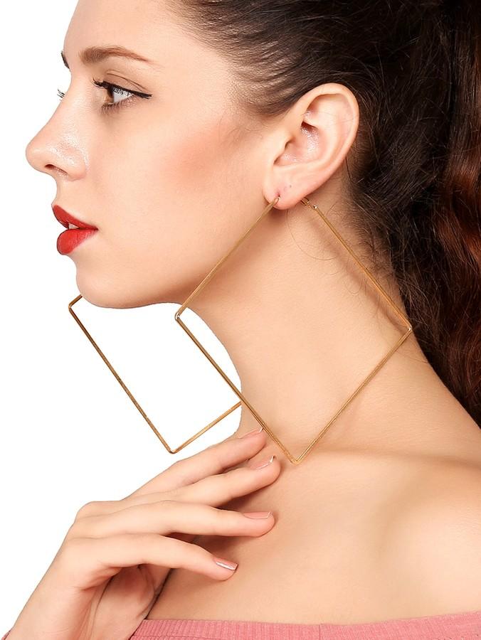 Shein Geometric Hoop Earrings 1pair