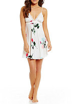 Kate Spade Floral Charmeuse & Lace Chemise