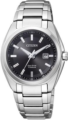 Citizen Womens Analogue Quartz Watch with Titanium Strap EW2210-53E