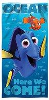 Disney Fiber Reactive Beach Towel 30x60 inches - Finding Dory Sea Swim - by SL Home Design