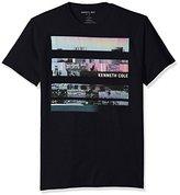 Kenneth Cole Reaction Men's Short Sleeve Variegated City