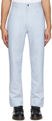 Daniel W. Fletcher Blue Contrast Stitch Jeans