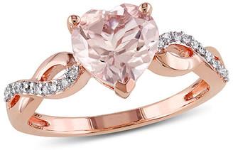 Rina Limor Fine Jewelry 10K Rose Gold 1.79 Ct. Tw. Diamond & Morganite Engagement Ring