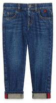 Gucci Little Girl's & Girl's Heart-Detail Cuffed Jeans