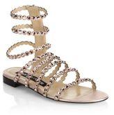 Sergio Rossi Kimberly Suede & Jewel Gladiator Sandals