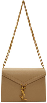 Saint Laurent Taupe Medium Cassandra Bag