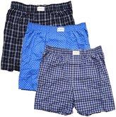 Tommy Hilfiger Mens 3-Pack Cotton Woven Boxer size XL 40-42 Underwear Blue Multi Blue Blue Multi