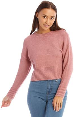 Miss Shop Crew Neck Textured Knit