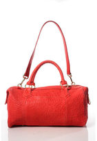 Lauren Merkin Coral Embossed Leather Zipper Closure Shoulder Handbag