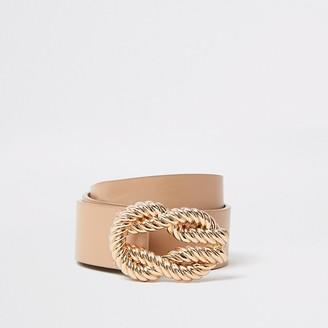 River Island Light brown rope buckle belt