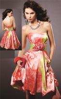 Blush Lingerie 9128 Floral Semi-Sweetheart Cocktail Dress