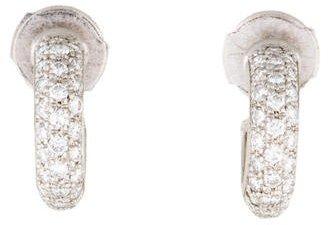 Cartier Platinum Diamond Small Hoop Earrings