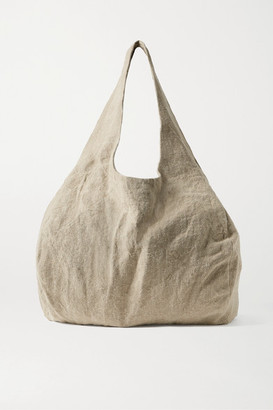 LAUREN MANOOGIAN Linen Shoulder Bag - Mushroom