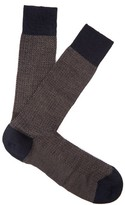 Pantherella Finsbury herringbone-knit merino-blend socks
