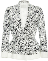 Carolina Herrera Splatter Print Peplum Jacket