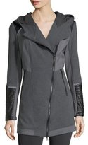 Blanc Noir Update Traveler Zip-Front Long Jacket