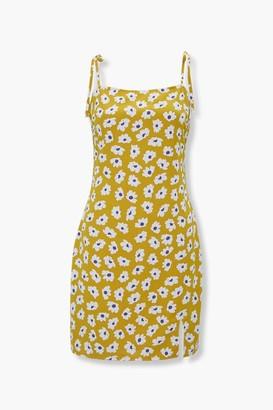 Forever 21 Floral Tie-Strap Mini Dress
