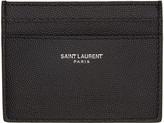 Saint Laurent Black Grained Leather Card Holder