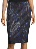 T Tahari Sloanne Printed Combo Pencil Skirt