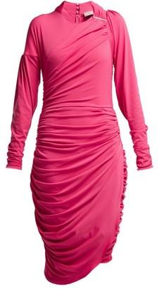 Preen by Thornton Bregazzi Alexandra Crinkled-georgette Ruched Midi Dress - Pink