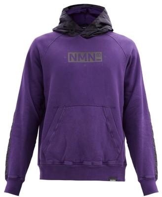 Nemen - Tracy Logo-print Cotton-jersey Hooded Sweatshirt - Dark Purple