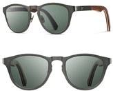 Shwood Men's 'Francis' 49Mm Polarized Titanium & Wood Sunglasses - Black/ Walnut