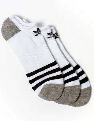 adidas 3 Pack Originals Roller Boys No Show Socks