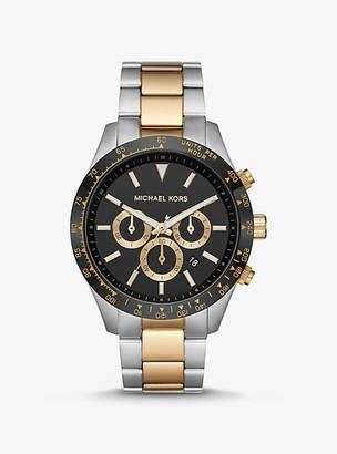 Michael Kors Oversized Layton Two-Tone Watch