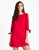 Red Shift Dress With Sleeves - ShopStyle UK