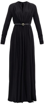 Petar Petrov Arcilla Belted Crepe Maxi Dress - Black