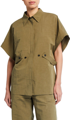Co Short-Sleeve Shirt With Side Belt