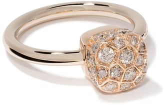 Pomellato 18kt rose and white gold Nudo Solitaire diamond ring