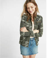 Express camo silky soft twill military jacket