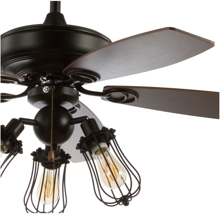 Thumbnail for your product : Jonathan Y Designs Lucas 52In Caged 3-Light Metal/Wood Led Ceiling Fan