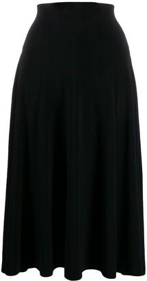 Norma Kamali Flared Midi Skirt