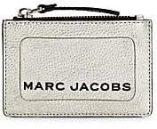 Marc Jacobs Women's Logo Zip Metallic Leather Card Case