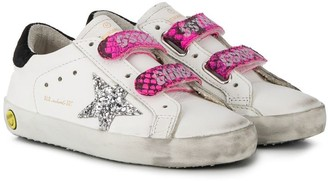 Golden Goose Kids Glitter Detailed Touch Strap Sneakers
