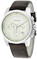Giorgio Armani Exchange Classic AX2506 Men's Brown Leather and Stainless Steel Chronograph Watch