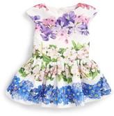 Halabaloo Infant Girl's Floral Stripe Party Dress
