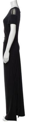 Laundry by Shelli Segal Crew Neck Long Dress Black