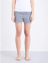 Tommy Hilfiger Checked woven cotton pyjama shorts