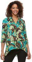 Dana Buchman Women's High-Low Chiffon Shirt