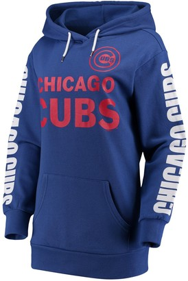 G Iii Women's G-III 4Her by Carl Banks Royal Chicago Cubs Extra Innings Pullover Hoodie
