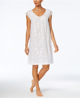 Charter Club Lace Floral Cotton Nightgown, Created for Macy's