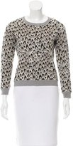Diane von Furstenberg Animal Print Wool Sweater