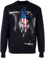 Neil Barrett Martin Luther King sweatshirt - men - Polyurethane/Viscose - 46