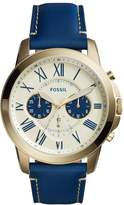 Fossil Grant Chronograph Watch Blau