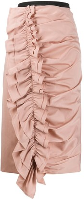 Antonio Marras Ruffled Pencil Skirt